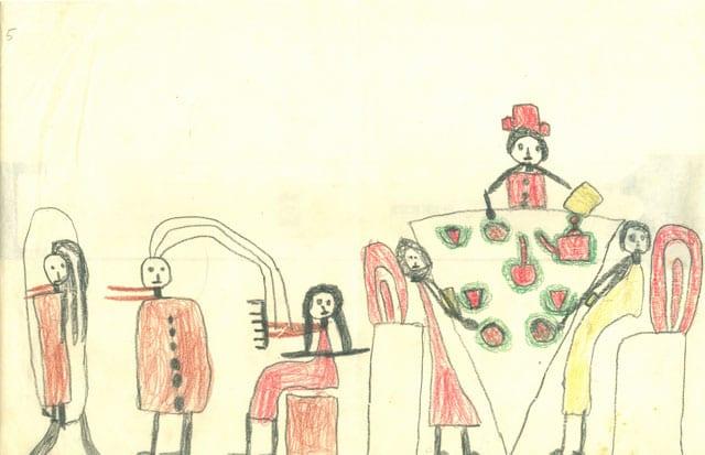 מוזיאון רמת גן: ציורי ילדות-1