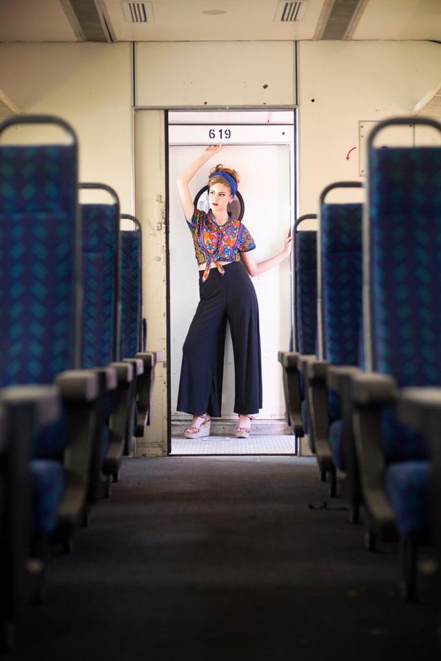 אופנה - רכבת ישראל. הפקה וצילום: ענת אורן. efifo, אופנה, מגזין אופנה -