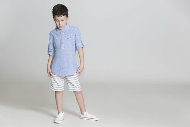 כחול לבן. גולף קידס ובייבי -- חולצה: 89.90 שקל, מכנסיים: 99.90 שקל. צילום גיא כושי ויריב פיין
