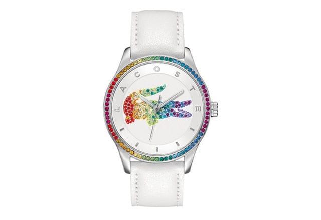 efifo, צבעי גאווה, pride, מצעד הגאווה, גאווה 2017, אתר אופנה, שעון יד צבעוני של לקוסט לשבוע הגאווה, שעון יד בצבעי גאווה - 1