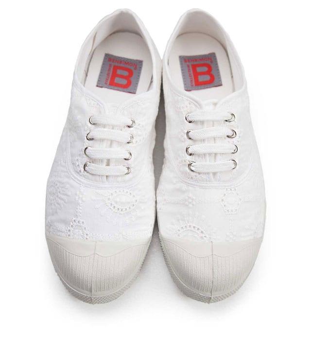 נעלי בנסימון, סניקרס לבנות של Bensimon. צילום: Jean Polar