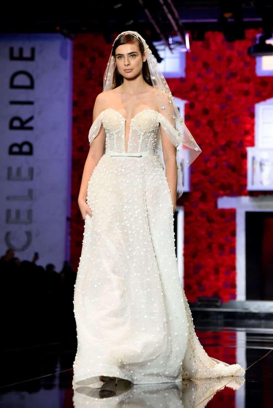 אביטל לנגר. שמלת כלה - לי גרנבאו. צילום: לימור יערי