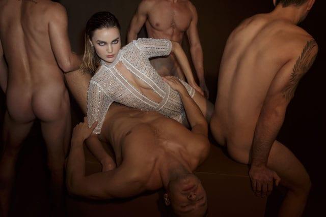 בצילום קמפיין אופנה פרובוקטיבי של דרור קונטנטו 2018. צילום: דביר כחלון
