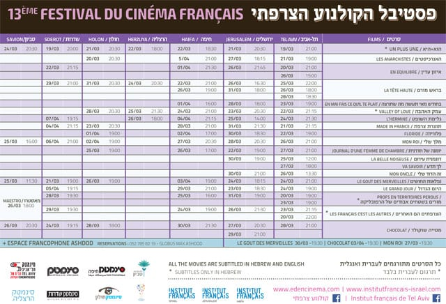 פסטיבל הקולנוע הצרפתי ה-13-4