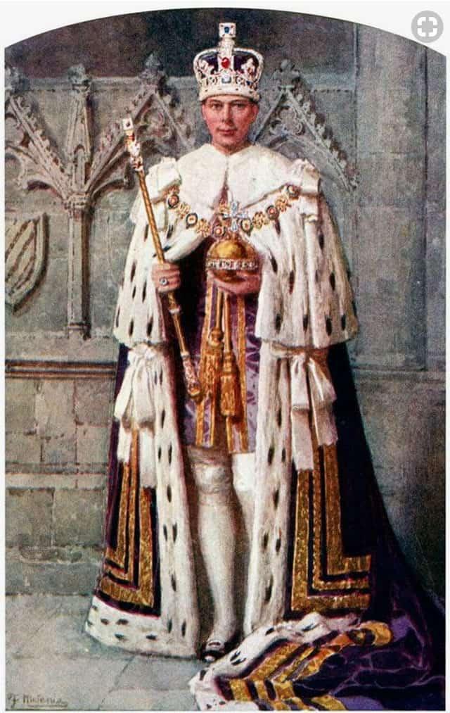 בצילום: המלך ג'ורג' לובש קטיפה. צילום: פינטרסט