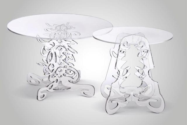 בצילום: שולחנות צד בעיצובו של המעצב אלון רזגור, להשיג ברשת IDdesign. צילום: ישראל כהן