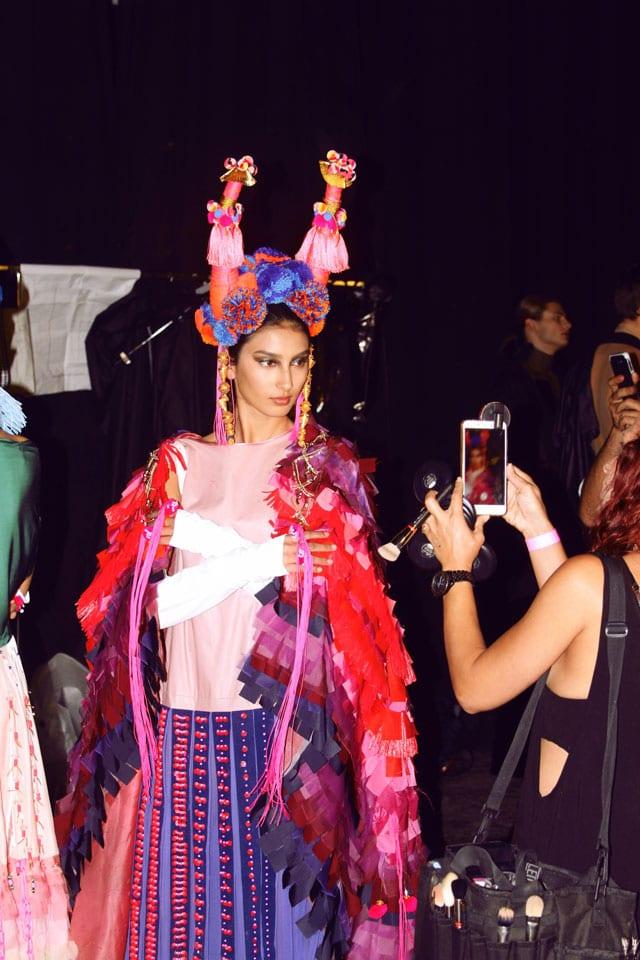 בתמונה: תצוגת אופנה של בוגר שנקר 2017. צילום: עומר רביבי - 13