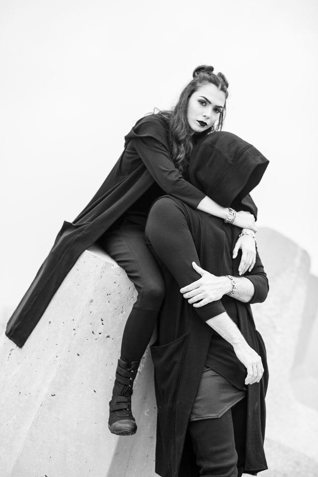 בצילום: קולקציית Black-L. של מעצבת האופנה לילך עוזי אהרוני. צילום: קרן שאוס-9