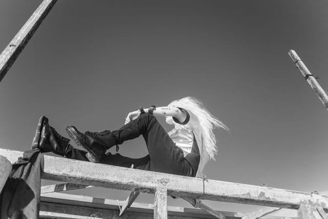 בצילום: קולקציית Black-L. של מעצבת האופנה לילך עוזי אהרוני. צילום: קרן שאוס-4