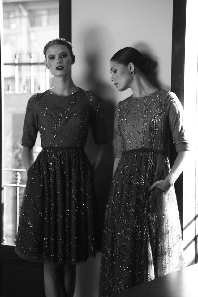 בצילום: שמלות ערב של חיה אמסלם. צילום: טל עבודי -1
