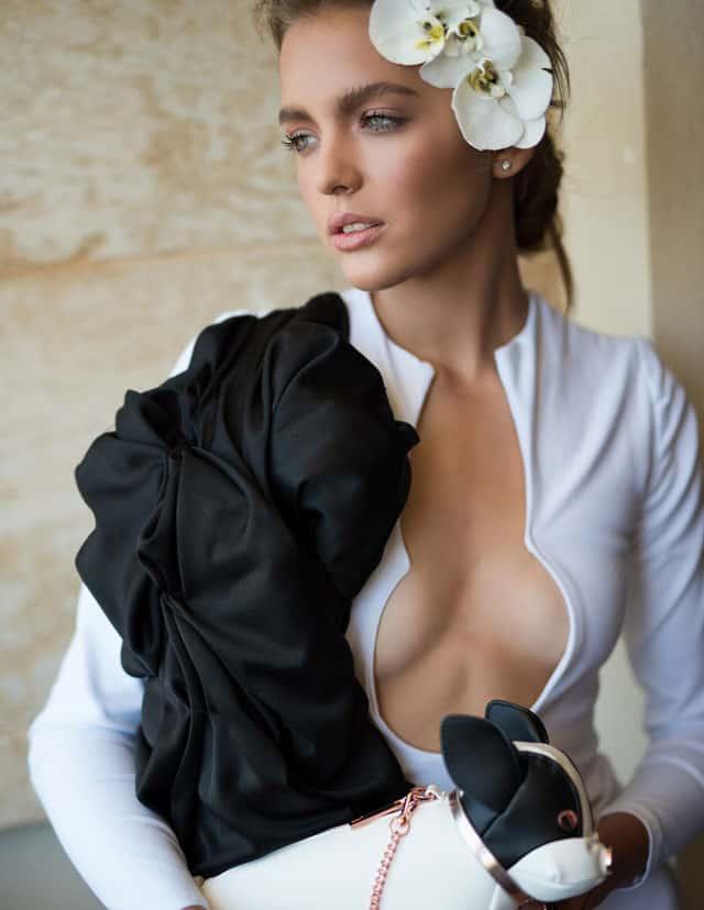 Photographer: LI-ON GREVIER, Model: Ksenia Scherbakova -MC2 Tel Aviv,Hair Stylist& Makeup: Olga Krasnovsky,Styling: Kseniya Makarenko, Designer: Eliad Hazan,Flowers: Lori-Lee Lindenberg. - 4