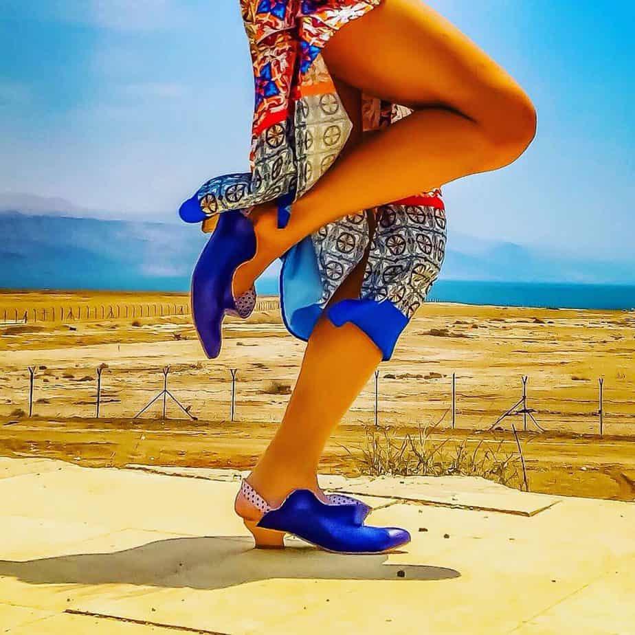נעליים של מיקה דרימר. בתמונה Mika Drimer - Artistic Shoes. צילום: מיקה דרימר -