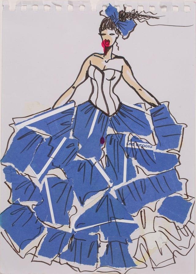 EFIFO מגזין אופנה. תערוכת איורי אופנה של מימי זיו בשנקר-5