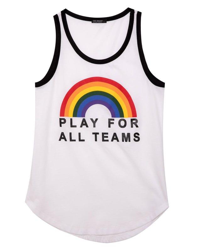 efifo, צבעי גאווה, pride, מצעד הגאווה, גאווה 2017, אתר אופנה, גופייה בצבעי גאווה של TNT