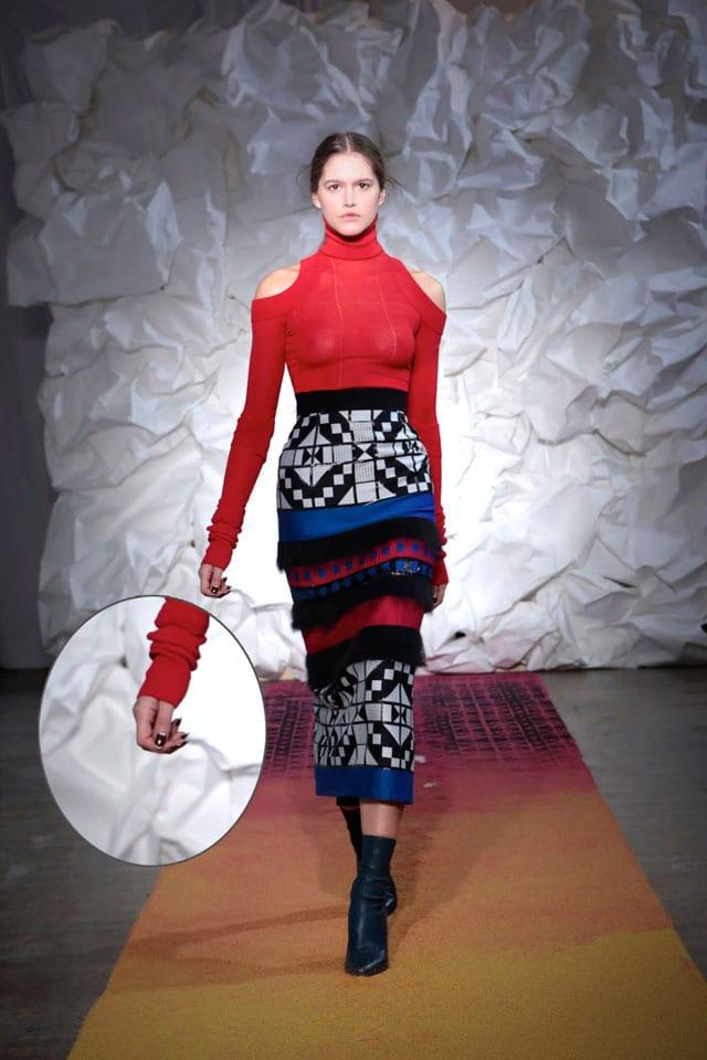מגזין אופנה, ארגמן בפרנץ' כפול1