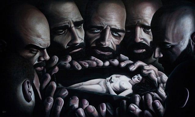בתמונה: The Death Of Snow White. יצירה של עומרי קורש (Omri Koresh)