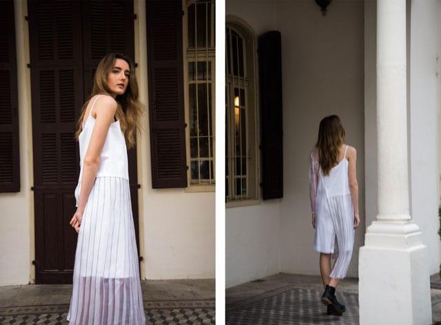 efifo, אתר אופנה, צילום והפקה: הילה כדי, איפור: אילונה סאבו, דוגמנית: אנה ל-אלינור שחר, אופנת נשים: פטיט פואיס, שירן דריקס, שמלת לבנה עם פרנזים - 7