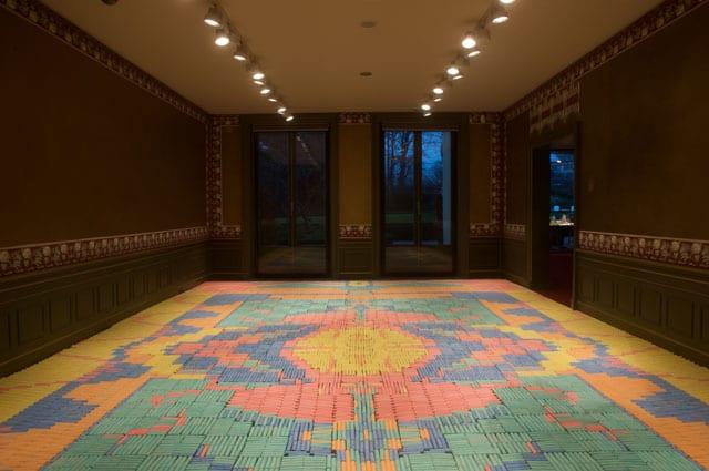 שבוע העיצוב ירושלים 2017: WeMakeCarpets Crayon Carpet. photo by Boudewijn Bollmann