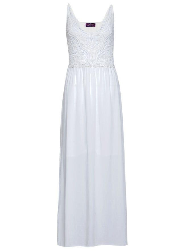 שמלה לבנה של העין השלישית. שמלת מקסי לבנה. מחיר: 199 שקל. צילום: עדי גלעד