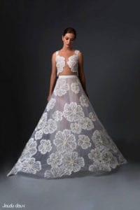 בתמונה: שמלת כלה של יעקב דוק. צילום: שחף מרגלית