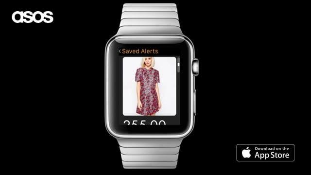 אפלקציית asos לשעון של Apple.