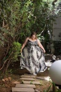 בצילום: שמלת ערב של דנה מליק. צילום: אפרת וייסמן