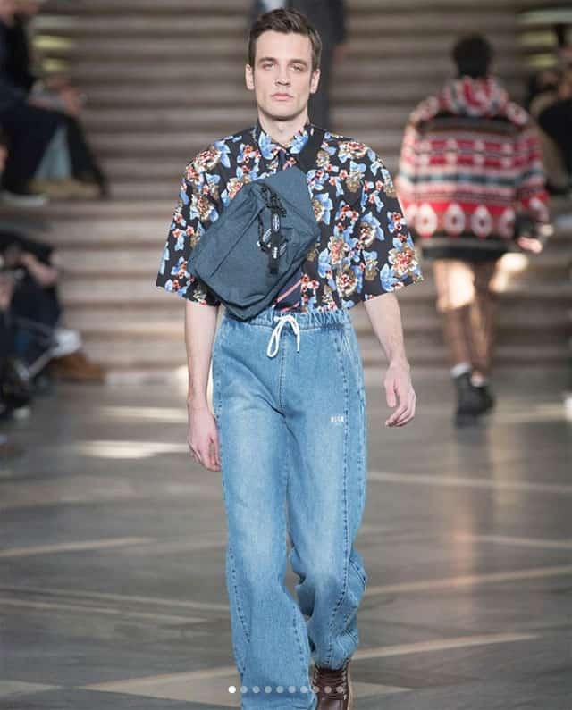 תצוגת אופנה של msgm בשבוע האופנה לגברים מילאנו 2018. צילום: אינסטגרם