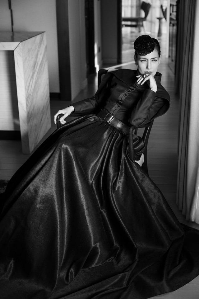 רונית אלקבץ בשמלה של יניב פרסי