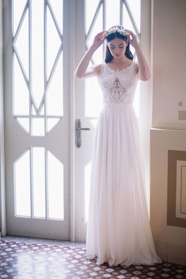 שמלת כלה של ורד גלעדי. EFIFO אתר אופנה, יריד כלות חכמות, EFIFO אתר אופנה, צילום: אלה אוזן