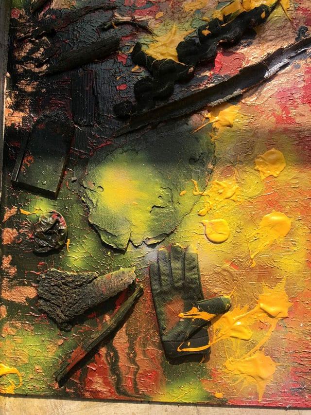 בתמונה: ציור של האמנית לאה צבעוני. צילום: יח״צ -5