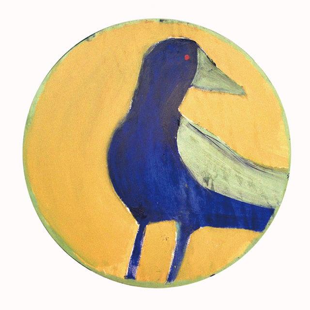 דורית קדר, אווז Goose מתוך הסדרה האינדיאנית,2003, אקריליק ושמן על עץ, קוטר 60 סמ-1