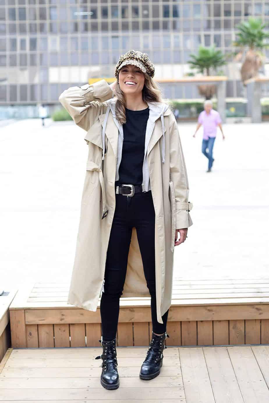 מעיל: מנגו קפוצ'ון: פוקס כובע: אוסף פרטי, חגורה: עדיקה, הודיה פיינגולד צילום לימור יערי - 2