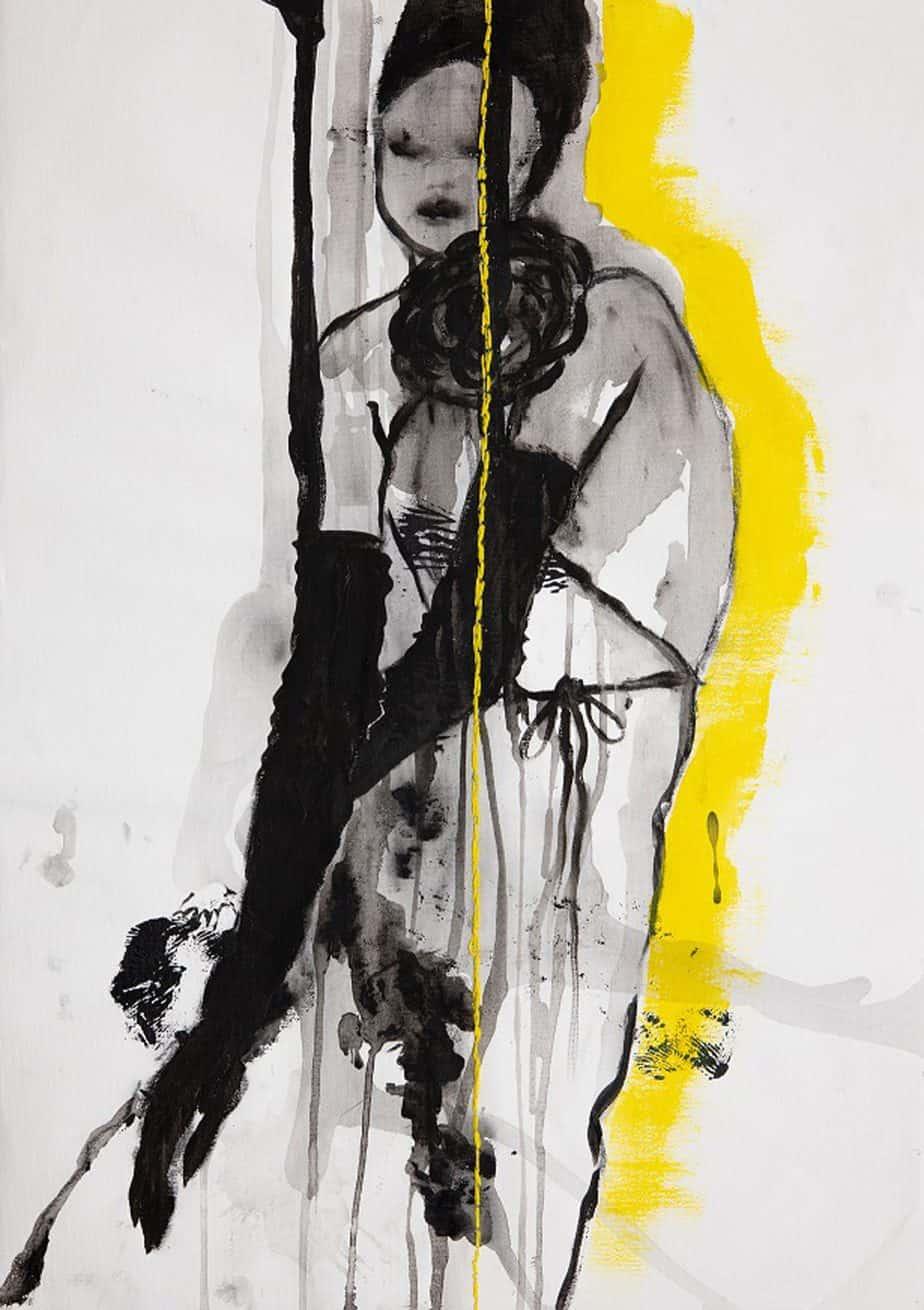 איורי אופנה מימי זיו. תערוכת איור אופנה -אוצרת: לאה פרץ, צילום רני יחזקאל (15)1