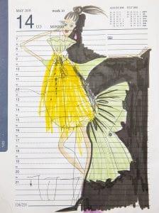 איורי אופנה מימי זיו. תערוכת איור אופנה -אוצרת: לאה פרץ, צילום רני יחזקאל (5)