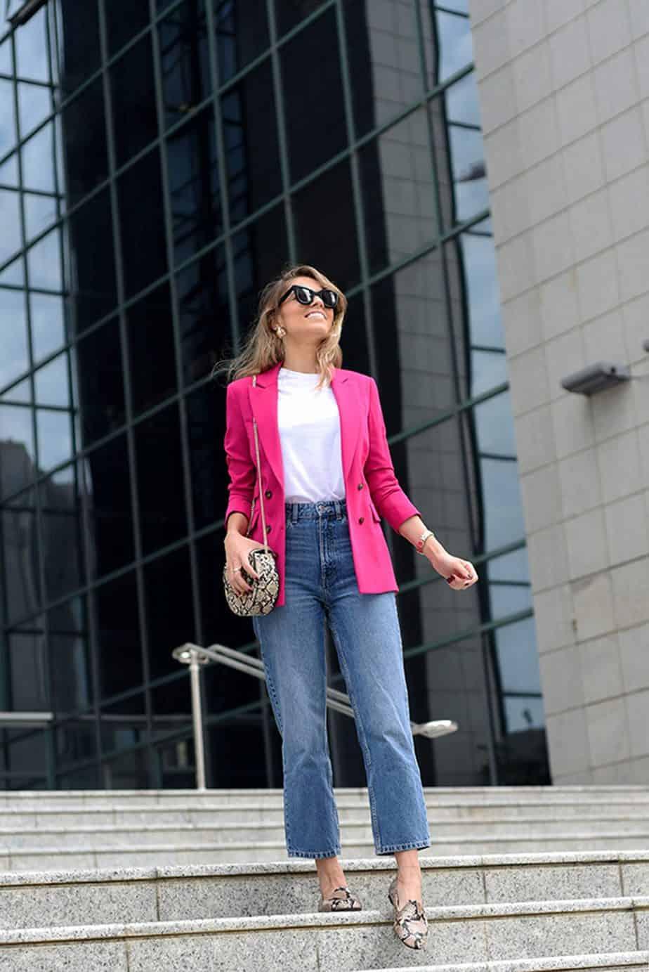 ז'קט: טופ שופ ג'ינס ונעליים: זארה תיק: מנגו משקפיים: CELINE, הודיה פיינגולד צילום לימור יערי - 6