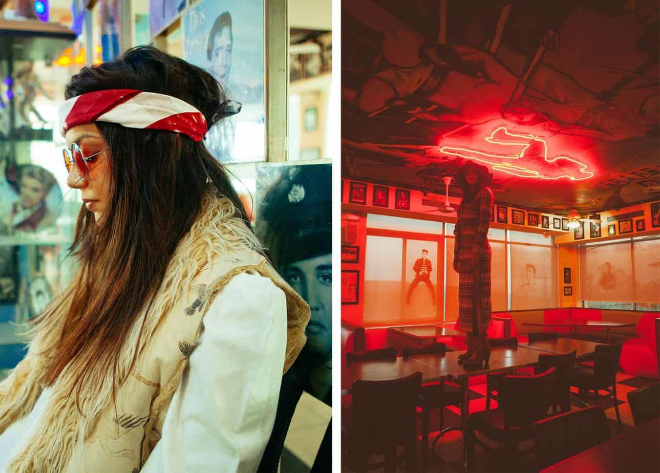 משמאל : ווסט Roberto Cavalli, חולצה ZARA , משקפיים עץ המשקפייםמימין : שמלה אוסף פרטי, כובע H&M. צילום: אופל פרץ, סטיילינג:רוזיטה פרץ ברגר - בוגרת שנקר, החוג לסטיילינג, דוגמנית: אסתר שוורצמן,אופנה, חדשות אופנה, כתבות אופנה, Fashiom Magazine, Fashion, Efifo ,מגזין אופנה, מגזין אופנה ישראלי, מגזיני אופנה ישראלים -3