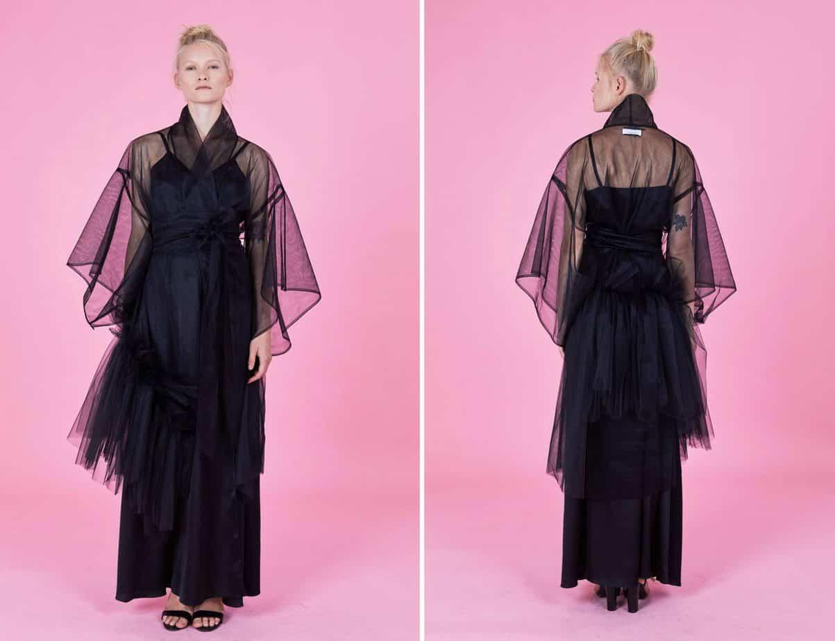 שמלה שחורה של שחר אבנט. צילום: לירון וייסמן
