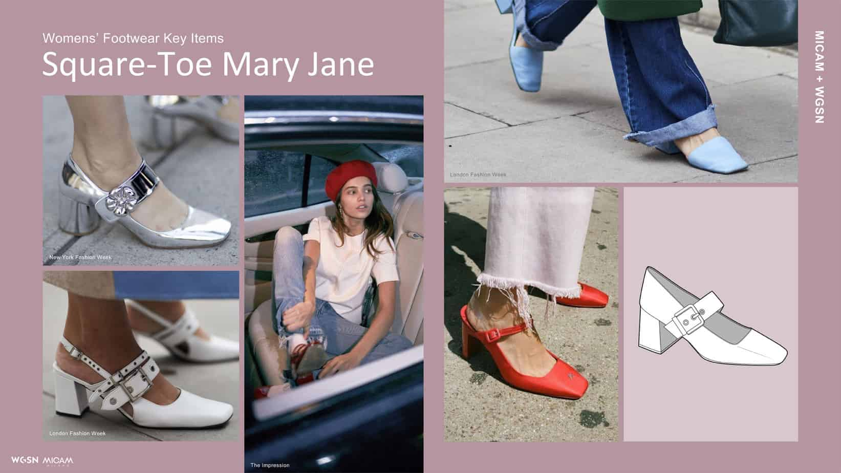 Womens' Footwear Key Items Square-Toe Mary Jane