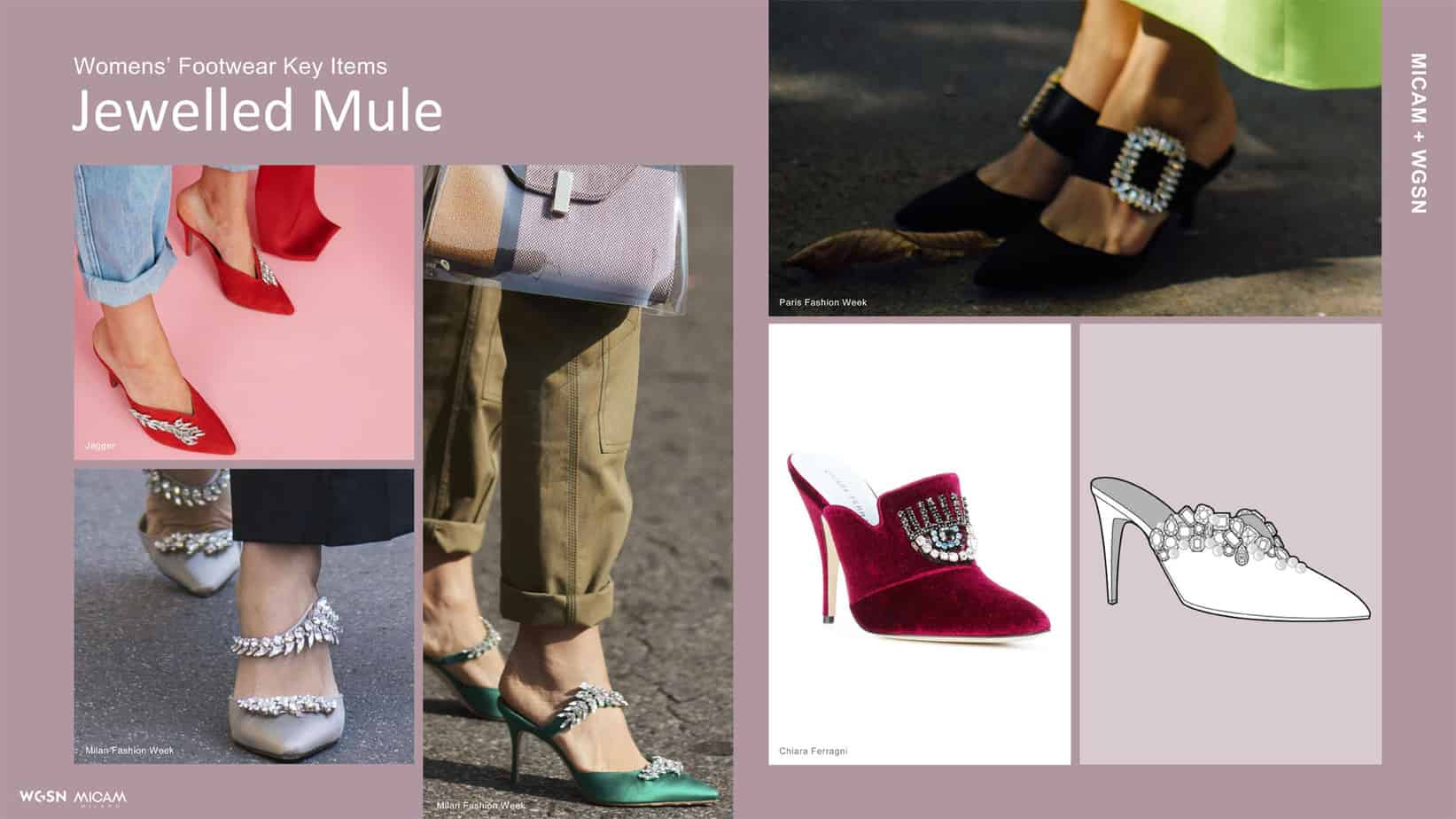 Womens' Footwear Key Items Jewelled Mule