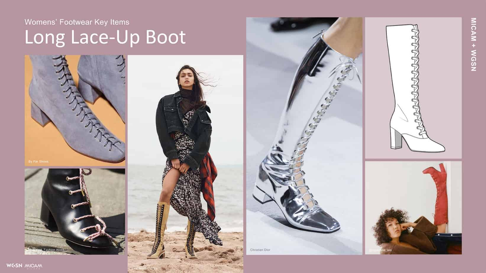 Womens' Footwear Key Items Long Lace-Up Boot