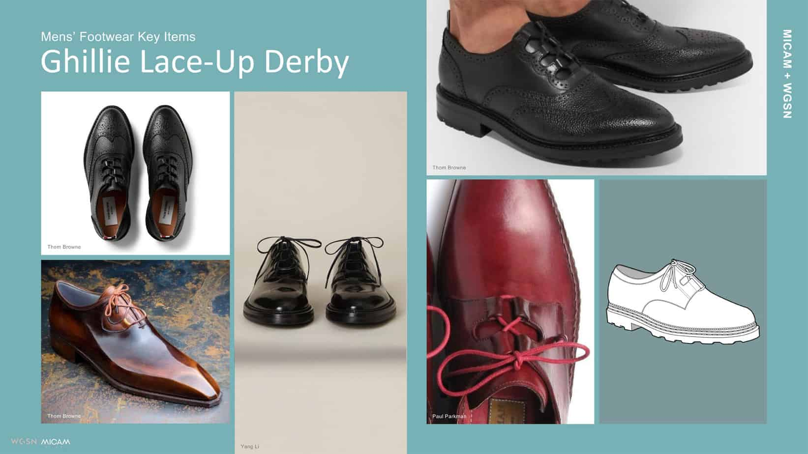 Mens' Footwear Key Items Ghillie Lace-Up Derby