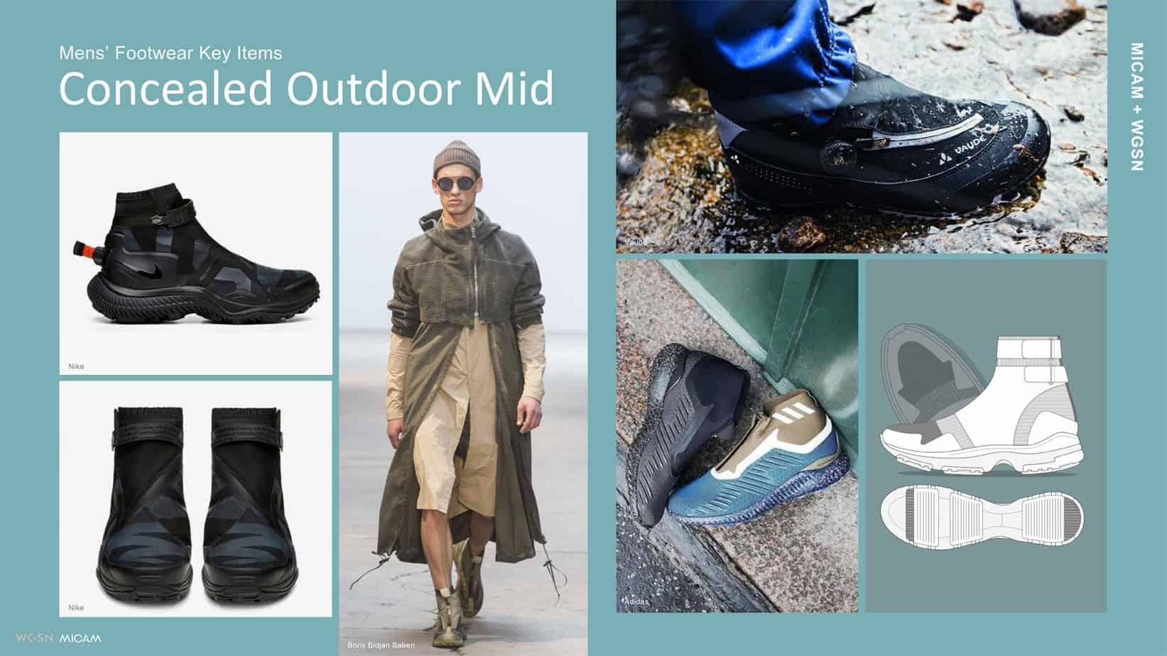 Mens' Footwear Key Items Concealed Outdoor Mid