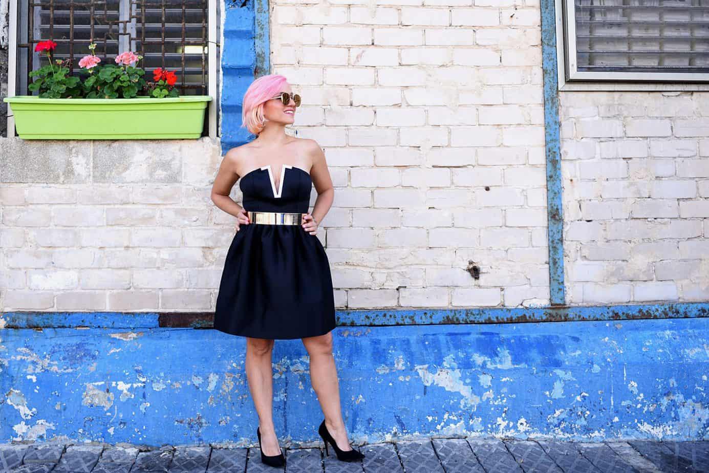 נעלי עקב ניוד Aldo שמלה שחורה asos, מורן טרסוב, Moran Tarasov, צילום: לימור יערי - 5