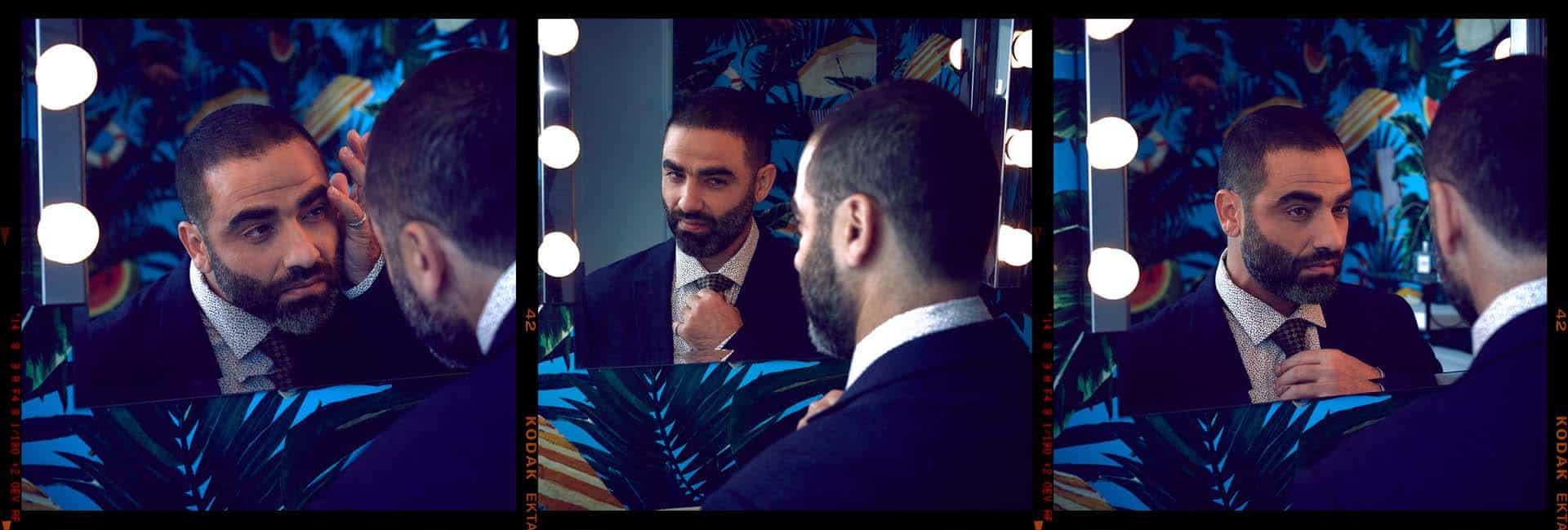 הישאם סולימאן, هشام فضل سليمان, הישאם סלימאן, צילום אלכס פרגמנט - בלייזר: המשביר לצרכן, עניבה וחולצה מכופרת: קסטרו