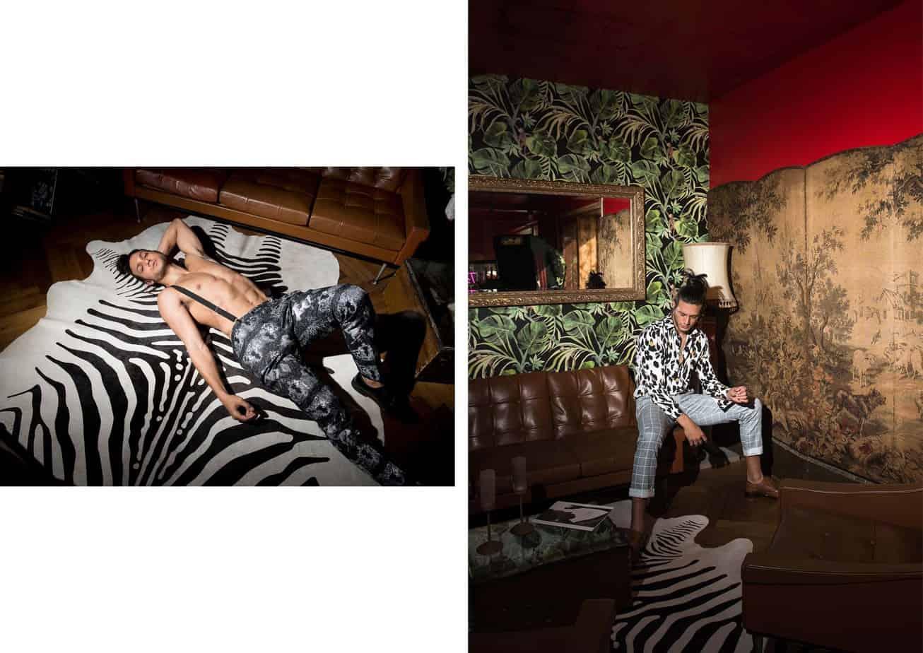 אסף גורן האח הגדול VIP, אסף גורן, Asaf Goren, צילום מני פל - מימין - מכנסיים וחולצה: nouveaurichedog byMaoz Dahan, טבעות: Miller. משמאל - מכנסיים: זארה