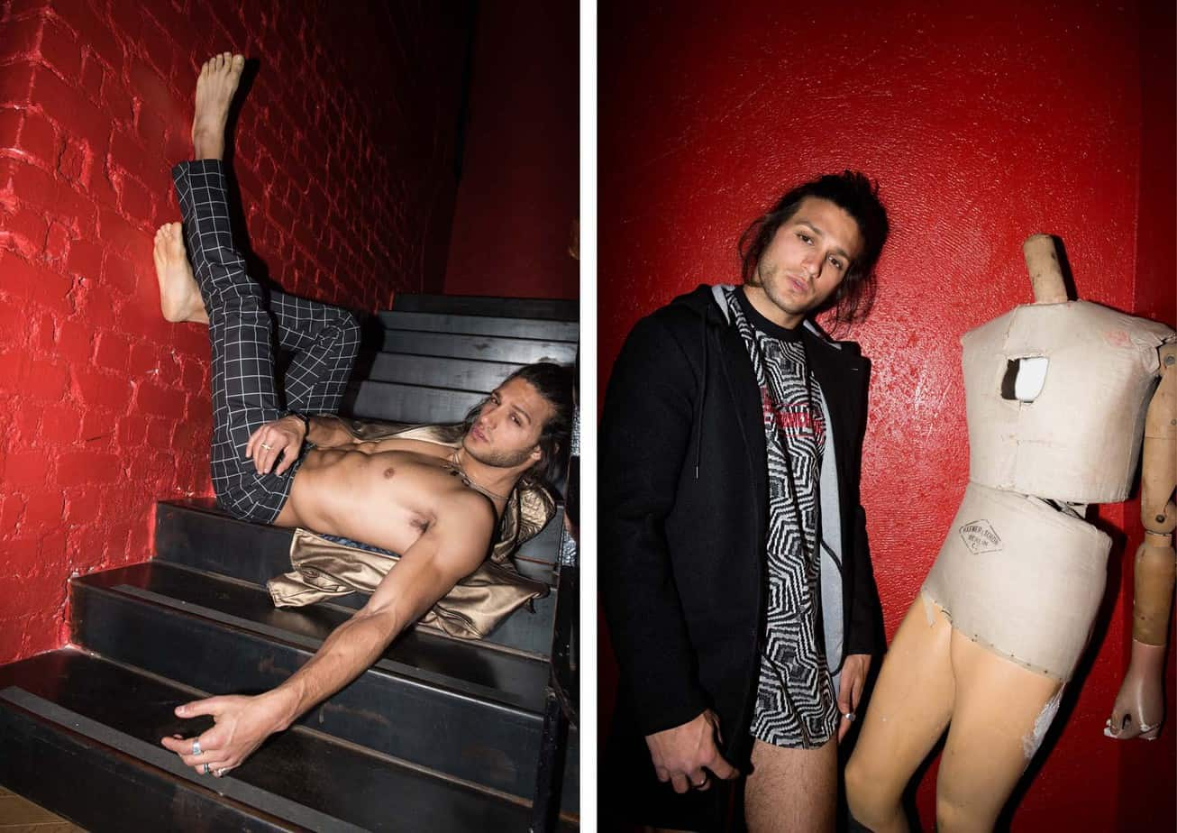 אסף גורן האח הגדול VIP, אסף גורן, Asaf Goren, צילום מני פל - מימין - חולצה: nouveaurichedog byMaoz Dahan, מעיל: רנואר, משמאל - מכנסיים וז׳קט: nouveaurichedog byMaoz Dahan