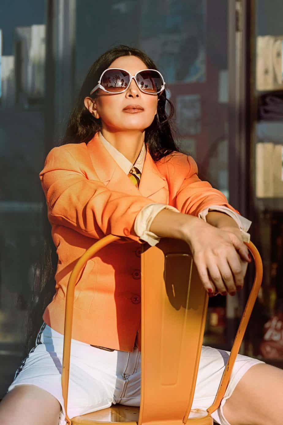ג'קט שנות ה- 70, ברמודה שנות ה- 80, מאיה אושרי כהן, אופנה שנות השבעים,צילום Gennadiy Tsodik
