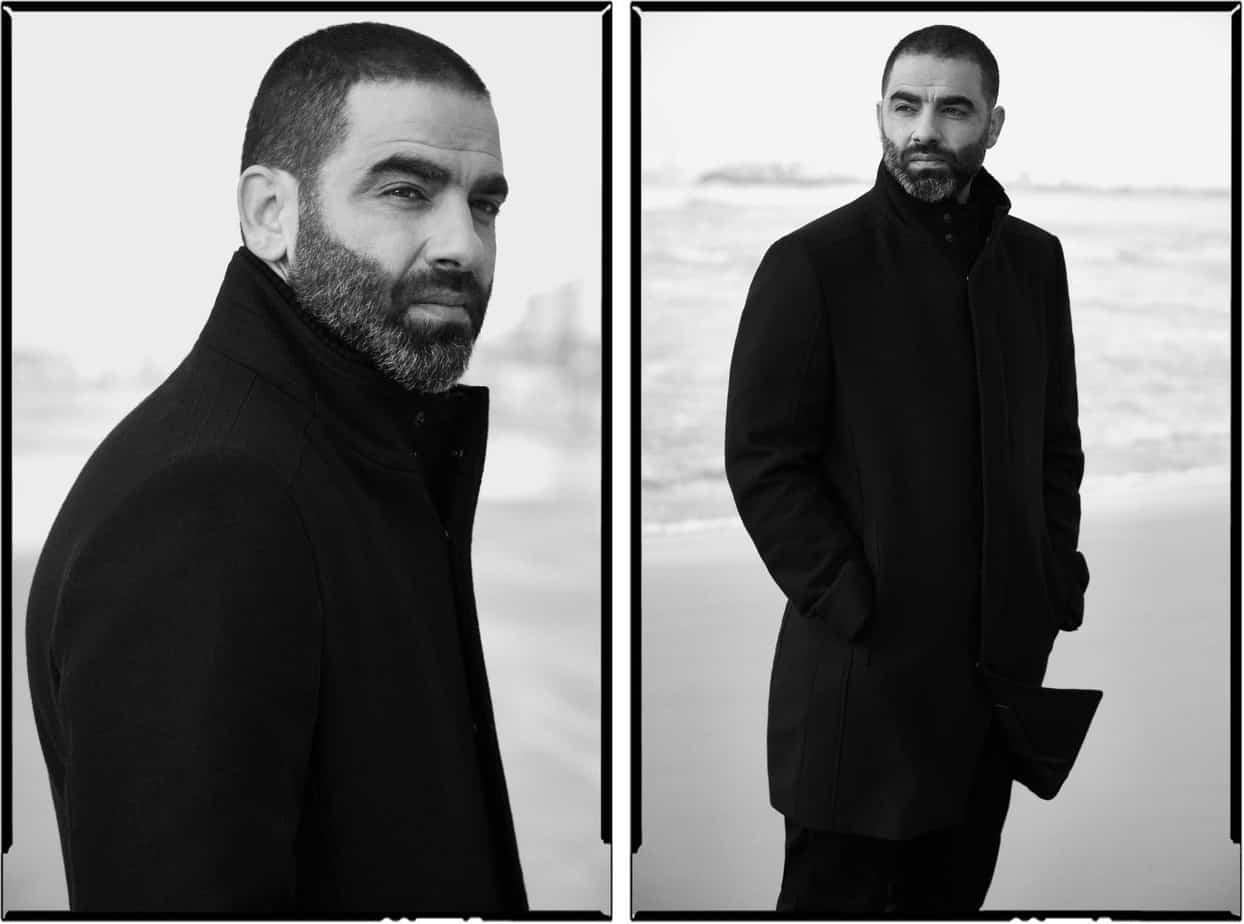 הישאם סולימאן, هشام فضل سليمان, הישאם סלימאן, צילום אלכס פרגמנט - מעיל: זארה: מכנסיים: המשביר לצרכן