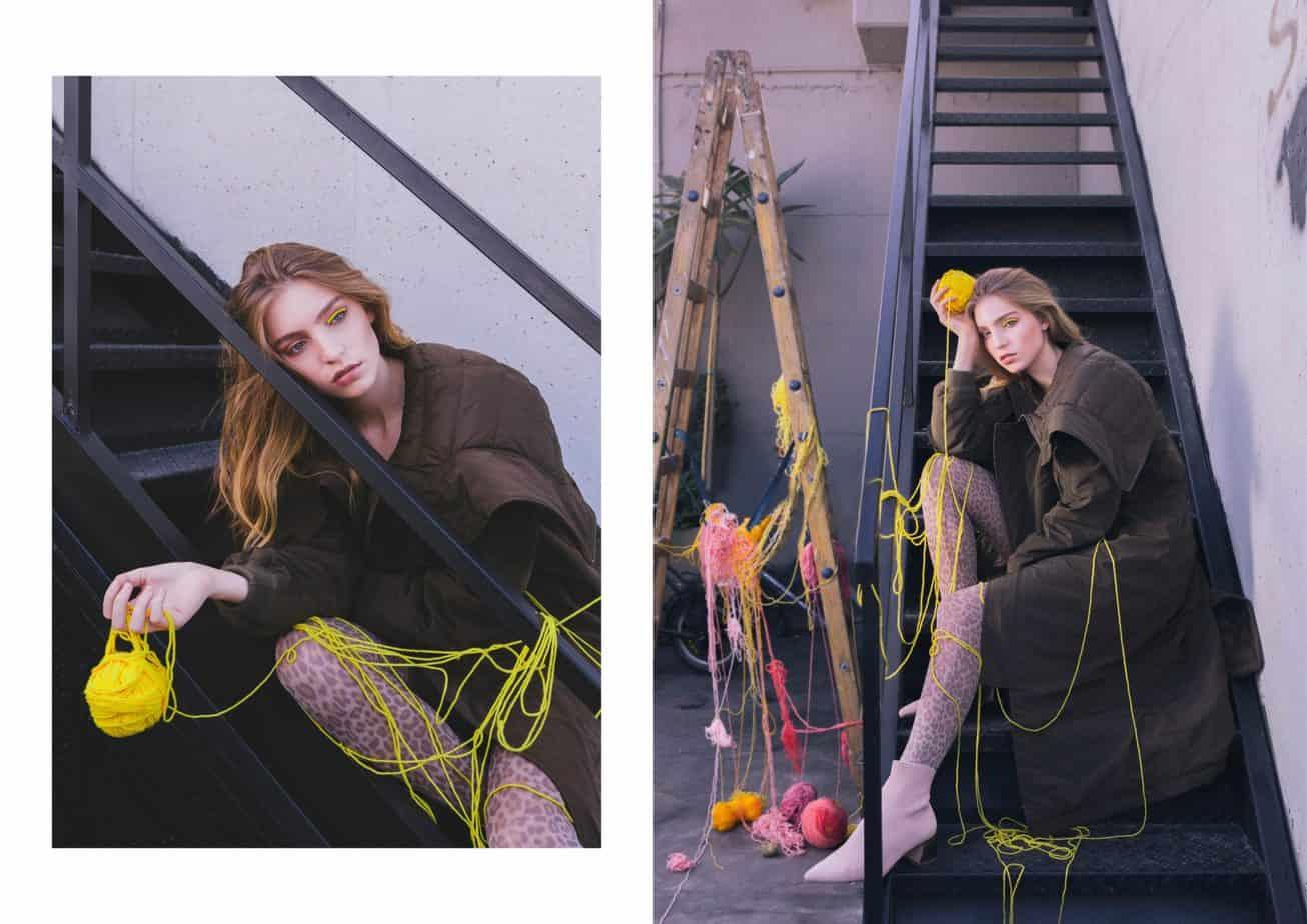 מעיל : Inn7, גרביון: Divine Garage, נעליים: Stradivarius , הפקת אופנה: צילום: קרן גנור, סטיילינג: אורי לשם, דוגמניות: שירה תגר ומאיה פלד ל-A list models, לוקיישן: Mondo 2000,איפור ועיצוב שיער: אלה רן -3