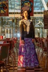 חולצת ערב פייאטים, מאיה אושרי כהן, אופנה שנות השבעים,צילום Gennadiy Tsodik